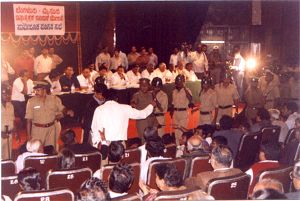 Expressway public hearing, July 2000, courtesy of Environment Support Group
