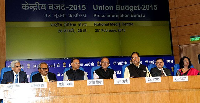 The Union Minister for Finance, Arun Jaitley addressing a post-Budget press conference in New Delhi on 28 February, 2015. Pic: PIB